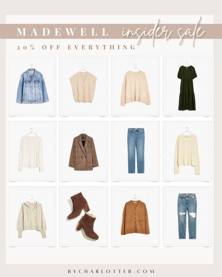 Madewell insider sale: 20% off everything   #LTKsalealert #LTKSale #LTKunder100