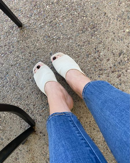 These knit mules are so comfortable. Perfect to wear to work during the week or on the weekends. #LTKstyletip #LTKunder50 #LTKworkwear   http://liketk.it/3h9iC #liketkit @liketoknow.it