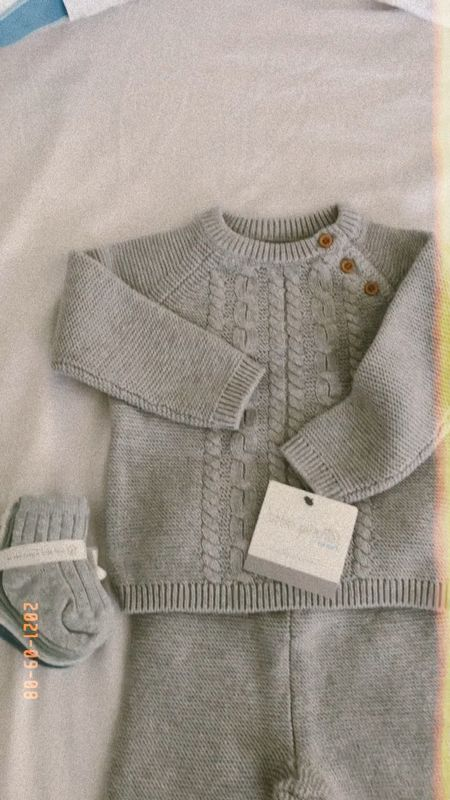 Carter's sale, baby clothes from their organic little people line. This ribbed grey knit is perfect for fall #carters #carterssale  #LTKkids #LTKbaby #LTKsalealert