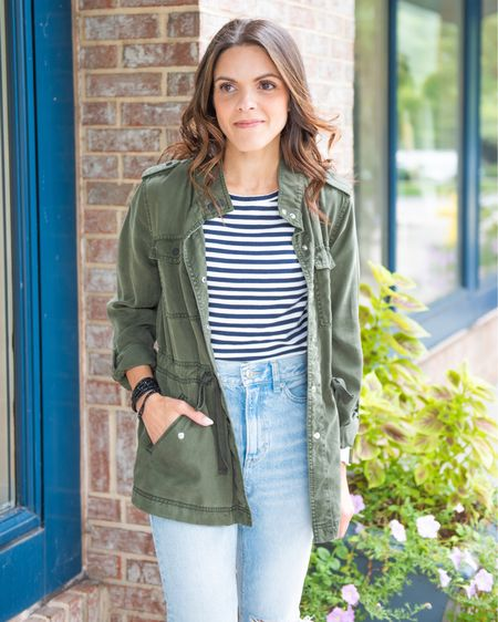 Spotlight on the utility jacket! Sharing ways to style in stories and here in feed!  — Fall outerwear, transitional outfit, surplus, military jacket, #LTKfall  #LTKstyletip