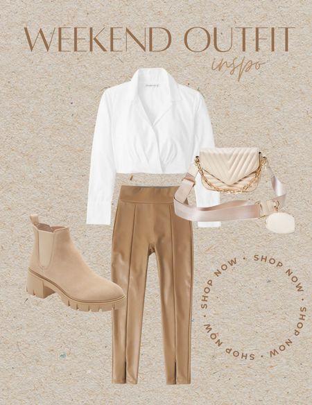Abercrombie  Faux leather Chelsea boot Neutrals   #LTKSeasonal #LTKstyletip #LTKunder50