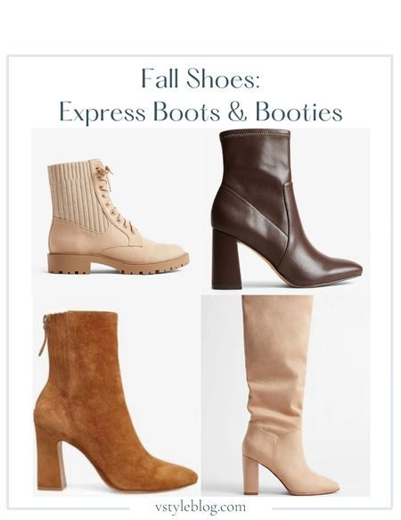 Boots, Fall outfits, Work wear, Fall family photos, Fall shoes, Booties, Combat boots, Brown booties, Taupe boots, Slouchy boots, Knee high boots, LTK Day Sale  Express  Tonal Combat Boots ($78) Block Heel Sock Booties ($78) Steve Madden Cassidee Booties ($139.95) Slouchy Knee High Block Heel Booties ($98)  #LTKshoecrush #LTKunder100 #LTKSale