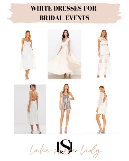 Dresses for bridal events on sale this weekend!  Bridal shower dress Rehearsal dinner dress  Bachelorette dress White dresses  #LTKsalealert