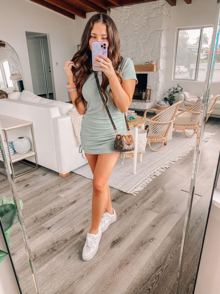 Amazon prime day sale! My summer dress is 20% off! Wearing xs. Comes in lots of colors, comfortable and length is adjustable due to side ties   Petite dress, petite friendly, summer outfit, casual outfit, easy outfit, amazon fashion, amazon finds, Nike, Nike Air Force ones, Louis Vuitton   #LTKunder100 #LTKunder50 #LTKsalealert