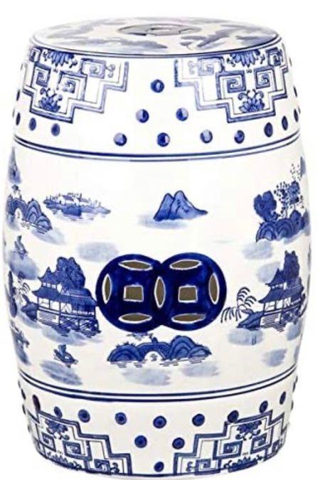 Excellent price on their chinoiserie garden stool!   #LTKunder50 #LTKhome #LTKstyletip