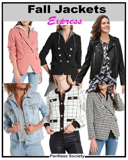Early gifting sale. Teqcher outfit. Workwear. Back-to-school outfit. Blazers. Houndstooth. Knit denim jacket. I wear an XS at Express all across the board. Fall jacket. Fall blazer. Blazer hoodie combo.  #LTKsalealert #LTKSale #LTKworkwear