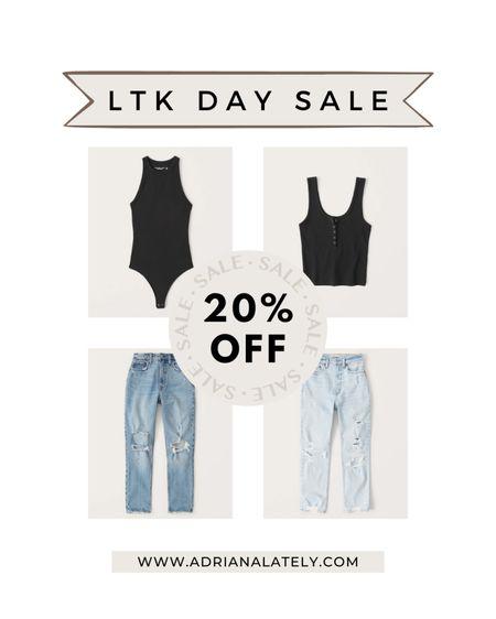 LTK day, Abercrombie, denim, jeans, Abercrombie jeans, bodysuit, summer outfits, sale, http://liketk.it/3hjrT #liketkit @liketoknow.it #LTKDay #LTKsalealert