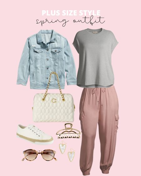 Elevated casual plus size spring outfit! Lots of new plus size Walmart finds for your plus size spring wardrobe!   #LTKunder50 #LTKcurves #LTKstyletip