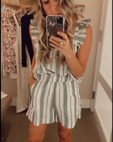 Striped Linen Set perfect for summer!   http://liketk.it/3hHpv @liketoknow.it #liketkit #LTKunder100 #LTKsalealert #LTKstyletip