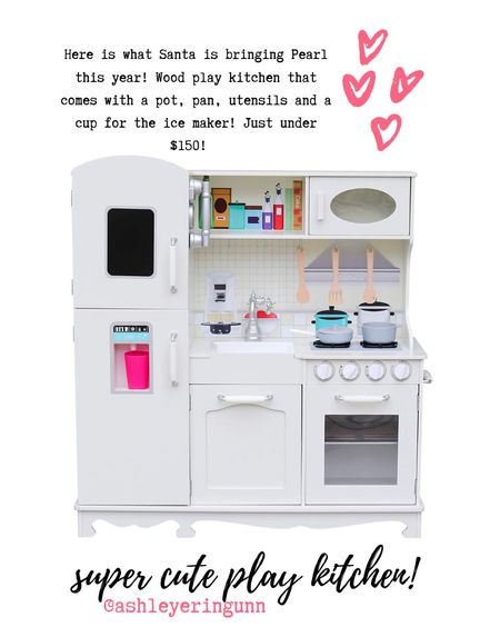 The cutest wood play kitchen!! Comes with a pot, pan, utensils and cup for the ice maker! Great deal just under $150 ❤️   #LTKfamily #LTKgiftspo #LTKkids