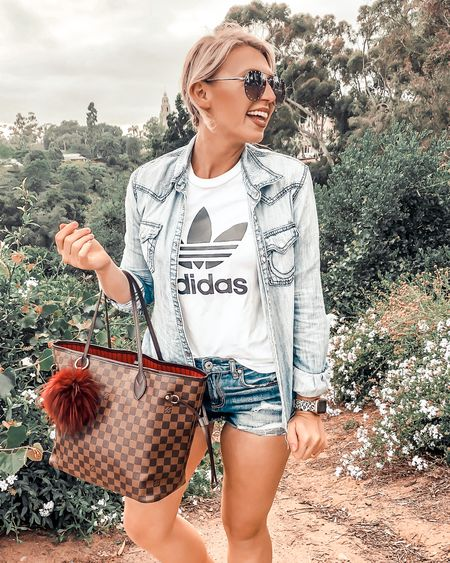 I always end up at American eagle for my Jean shorts! Pair it with a graphic tee for the occasion and a light jean shirt or jacket for crisper air! #competition   #LTKstyletip #LTKunder50 #LTKSeasonal