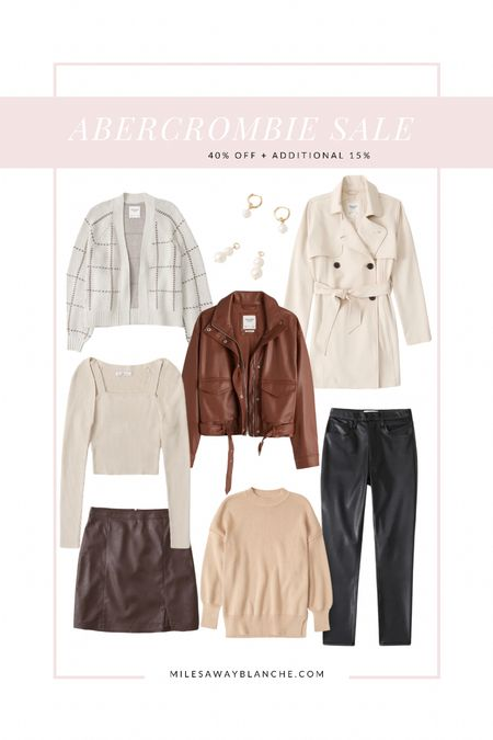 Abercrombie sale 40% off + additional 15%! Cute fall items within this sale. I'm a small on top!   #LTKSeasonal #LTKunder100 #LTKsalealert