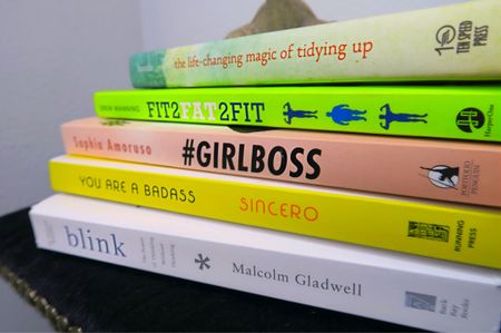 #BookIt    I'm not big on #NewYearsResolutions but I'm going to try hard as hell to read a new book each month. 🍎 What #books do you suggest I add to this pile?    #blink #youreabadass #girlboss #fit2fat2fit #tidyingup #liketkit Get links sent to your inbox by signing up @liketoknow.it 👉🏼 http://liketk.it/2q3cO