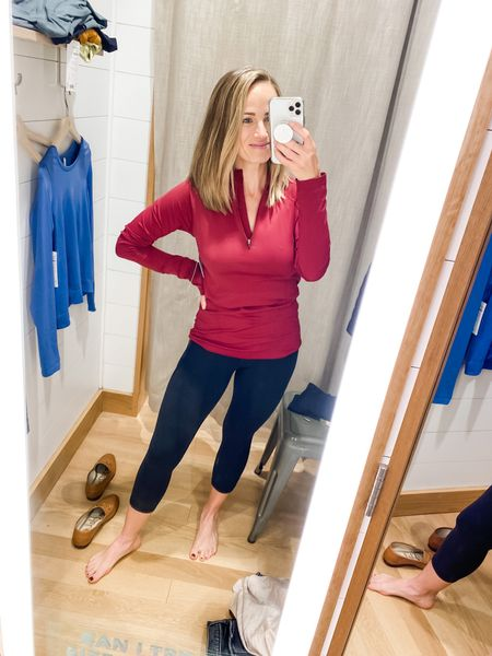 Love this quarter zip from Athleta! Can't find it and red online, but the style is online!  #LTKstyletip