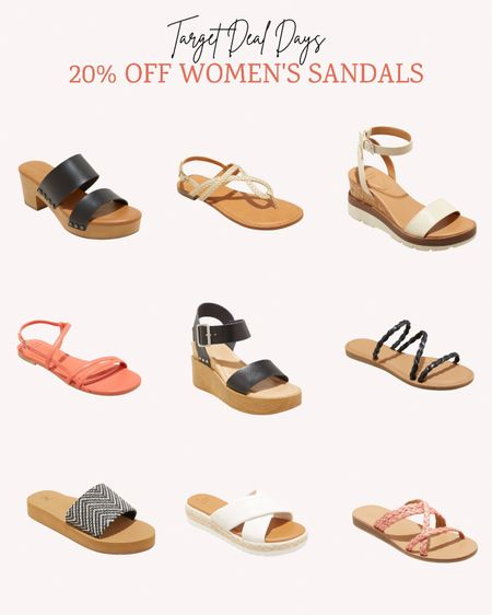 Now is the time to stock up on summer sandals while they're 20% off during Targets Deal Days.   Double tap this post to save it for later.   Follow me for more ideas and sales.   #LTKshoecrush #LTKsalealert #LTKunder50