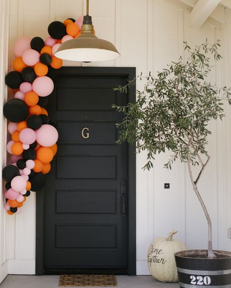Create a bright and welcoming Halloween front porch entryway. PpPhoto from our Halloween @TakeTimeToToast event at my home in Napa. #liketkfall  http://liketk.it/2VPZt #liketkit @liketoknow.it #LTKhome #StayHomeWithLTK @liketoknow.it.home