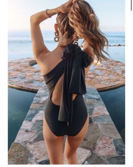 Spring break swim! Black swimsuits, black one piece http://liketk.it/39MAx #liketkit @liketoknow.it #LTKswim #LTKunder50