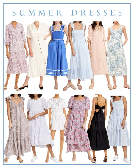 Summer dress, midi dress, maxi dress, floral dress   #LTKunder100 #LTKSeasonal