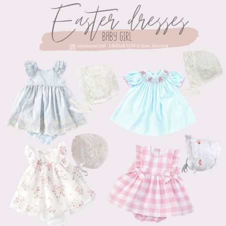 Baby girl easter dresses. Easter bonnets. Dresses. Easter. http://liketk.it/3aSfu #liketkit @liketoknow.it   #LTKbaby #LTKfamily #LTKunder50 You can instantly shop all of my looks by following me on the LIKEtoKNOW.it shopping app