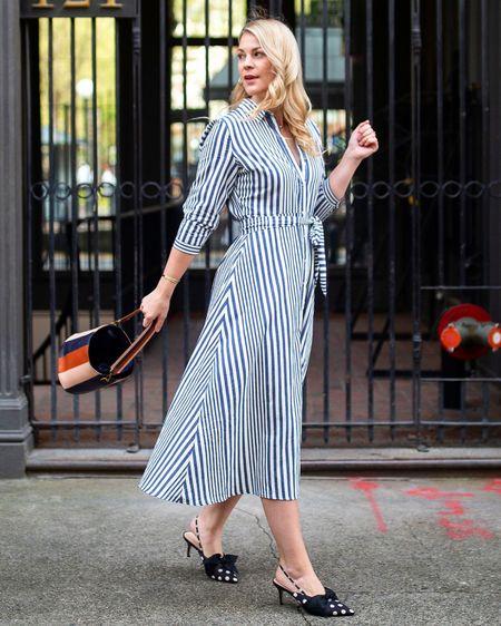 Striped midi dress | Spring Dress @liketoknow.it http://liketk.it/3agbL #liketkit #LTKunder100 #LTKunder50 #LTKstyletip