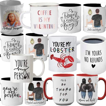 Valentine's Day mugs! Amazon Finds. Valentine's Day decor. Valentine's Day gifts. Custom gifts. Funny Gifts.   http://liketk.it/35MJn #liketkit #LTKhome #LTKunder50 #StayHomeWithLTK @liketoknow.it
