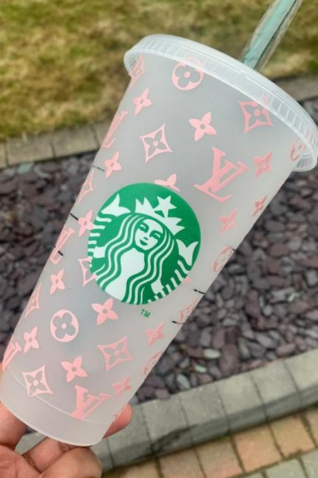 How fab is this designer inspired reusable Starbucks cup?! So cute and it's under $20'   #LTKunder50 #LTKfamily #LTKhome