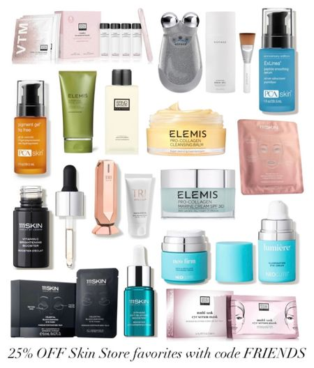 Beauty sale alert! Skin Store is doing a 25% off friends and family sale! Use CODE: FRIENDS  Some of my favorite and most recommended items are Elemis products like the pro-collagen cleansing balm and marine cream, 111Skin face masks and vitamin C brightening booster, Nuface magical results trinity set, the Erno Laszio eye serum mask and hydraphel skin supplement lotion and more! Shop them all here at 25% while you can! RUN!   #LTKbeauty #LTKGiftGuide #LTKsalealert