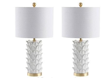 White lamps, white coastal decor, coastal home decor    #LTKunder100 #LTKhome #LTKsalealert