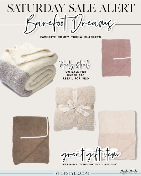 Barefoot dreams sale on comfy blankets. These make great gifts and almost half off right now! http://liketk.it/3joXk #liketkit @liketoknow.it #LTKhome #LTKunder100 #LTKsalealert