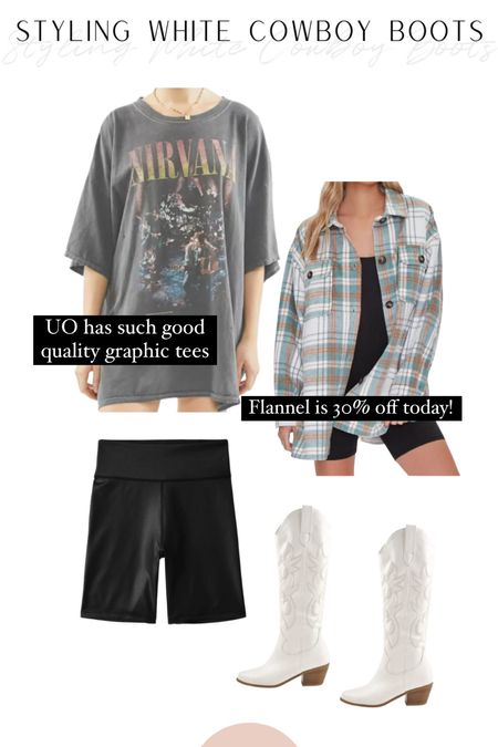 Graphic tees have been so in this year & this is a great way to transition into the fall!   #LTKunder100 #LTKshoecrush #LTKSeasonal