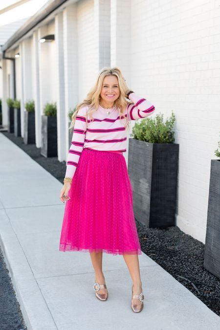 The perfect sweater and skirt combo for your next party or holiday soirée! Use code FANCY15 for 15% off! I'm in the XS in the sweater and the skirt!   #LTKHoliday #LTKunder100 #LTKSeasonal