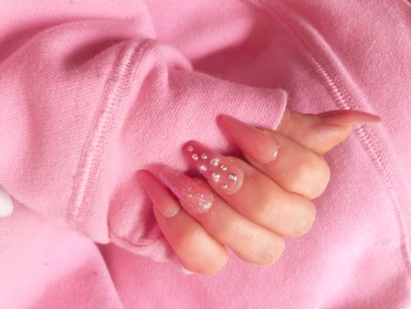 Kiss press on gel acrylic nails for an at home manicure   #LTKstyletip #LTKunder50 #LTKbeauty