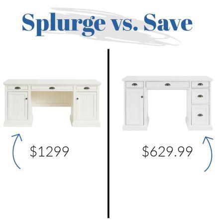 Splurge vs Save white desks!    http://liketk.it/3k78x #liketkit @liketoknow.it @liketoknow.it.home #LTKsalealert #LTKunder100 #LTKhome white desks