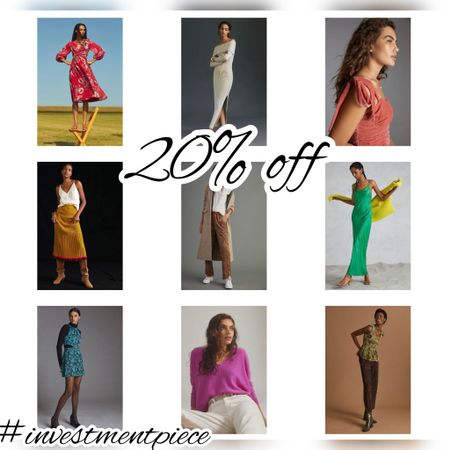 For a limited time get 20% off select items @anthropologie From velvet tops to cords to cut out dresses- I love these! #investmentpiece   #LTKunder100 #LTKsalealert #LTKSeasonal