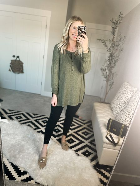 Plush tunic henley- medium tall    #LTKstyletip #LTKsalealert #LTKunder50