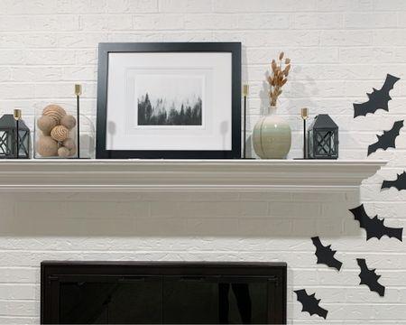 http://liketk.it/2YMKl #liketkit @liketoknow.it simple fireplace halloween decor!