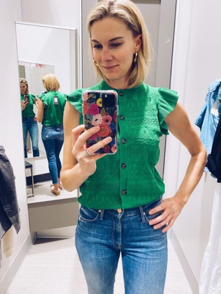 If you're a Baylor bear or love the color green, you've got to get this! I'm wearing an xs in the top.   #target  #LTKstyletip #LTKunder50
