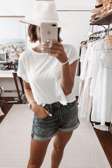 Any easy white tee for todays outfit! http://liketk.it/3j6wZ @liketoknow.it #liketkit #LTKunder50 #LTKstyletip #LTKunder100