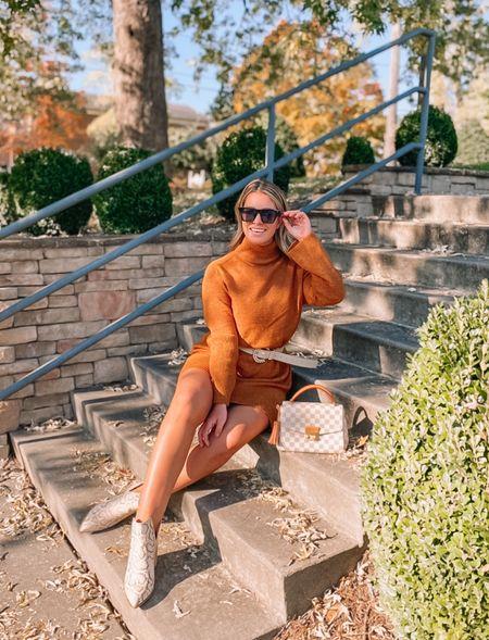 Loving this orange sweater dress!   #LTKHoliday #LTKunder100 #LTKunder50