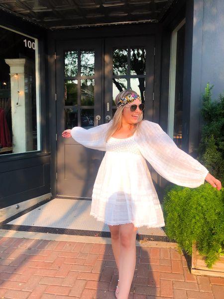 Free people white dress  #LTKworkwear #LTKshoecrush #LTKfit