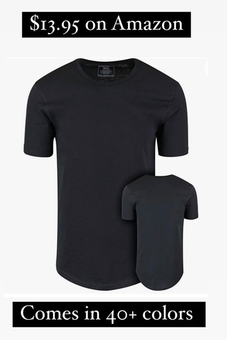 Sharing this men's tee! Obsessed and perfect length for my husband! #LTKmens #LTKstyletip #LTKsalealert just $13.95 on Amazon! #founditonamazon #amazonfind #plainblacktee @liketoknow.it.family @liketoknow.it.home http://liketk.it/3hWbE #liketkit @liketoknow.it Shop your screenshot of this pic with the LIKEtoKNOW.it shopping app