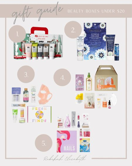 Rounded up my top 5 beauty boxes all under $20! Perfect for any beauty lover in your life and love that you can sample different products! Great gift for your boss, co-worker, secret Santa, neighbor and friends! #rebekahelizstyle   #LTKbeauty #LTKGiftGuide #LTKHoliday