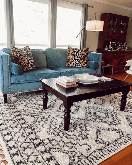Area rug under $200 (7x9) Velvet couch under $400 Floor lamp under $70  http://liketk.it/2IY6j @liketoknow.it #liketkit #LTKhome #LTKstyletip home decor, living room decor, midcentury modern, Target, Wayfair