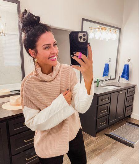 Color block sweater - so soft. Size M. Use code Mollyann   #LTKunder100 #LTKunder50 #LTKSeasonal