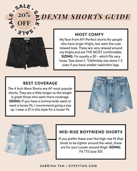 Denim shorts  http://liketk.it/3i0yj #liketkit @liketoknow.it #LTKsalealert #LTKstyletip #LTKunder50