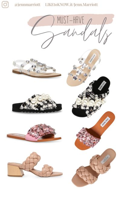 Must-have sandals for spring and summer. Braided sandals, rhinestone sandals, pearl sandals, clear sandals http://liketk.it/39sh6 #liketkit @liketoknow.it #LTKbeauty #LTKstyletip #LTKshoecrush Follow me on the LIKEtoKNOW.it shopping app to get the product details for this look and others