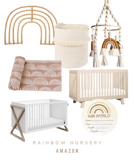 Rainbow Nursery decor ideas   #LTKbaby #LTKbump #LTKunder50