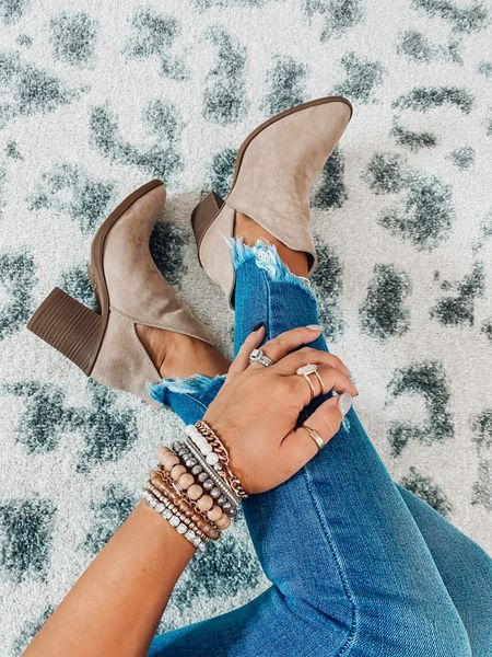 Current favorites booties! 🍁 they are super comfortable & fit true to size, plus I bet you they will be your go to go fall shoes!  sharing link to very similar pair also, which are available in lots of colors bc these this color is currently low in stock.   #LTKshoecrush #LTKSeasonal #LTKunder50