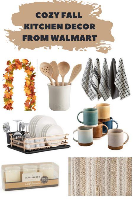 Fall home decor // cozy kitchen ideas #ad #walmarthome   #LTKhome #LTKSeasonal #LTKunder50
