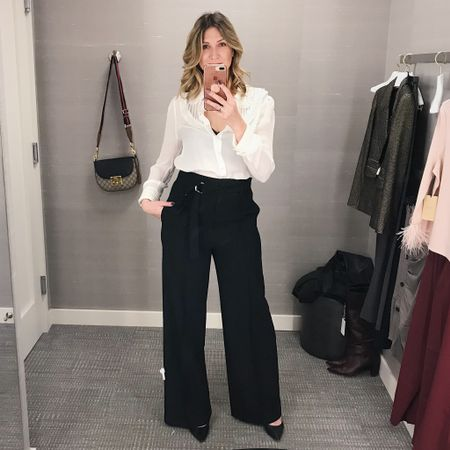 These high waisted dress pants have been a staple in my wardrobe and I cannot wait to share how I styled them at home!! http://liketk.it/2ylWD #liketkit @liketoknow.it #LTKstyletip #LTKholidaystyle